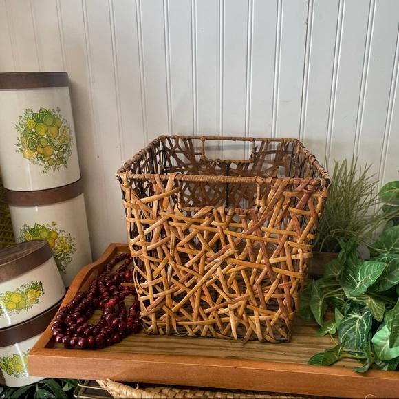 Wicker Woven Rectangular Planter Basket